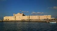 Alexandria Skyline Timelapse Egypt The Citadel of Qaitbay, The Fort of Qaitbay Stock Footage