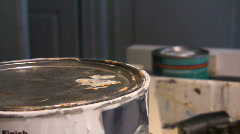 Paint Can Stock Footage