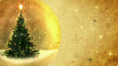 Christmas tree in a crystal ball.Retro style. Stock Footage