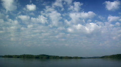 Summer Timelapse 05 Clouds over Lake - stock footage