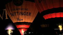 Bristol Balloon Fiesta at night Stock Footage