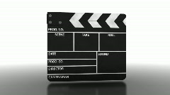 Clapperboard Stock Footage
