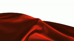 A red curtain tumbling down. Stock Footage