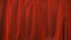 A red curtain rolling down. Stock Footage