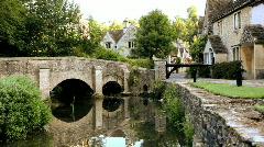 Castle Combe Village, Wiltshire Stock Footage