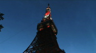 Stock Video Footage of Tokyo Tower - timelapse