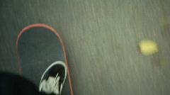 Pushing a skateboard Stock Footage