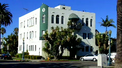 Small Art Deco Apartment Building - stock footage