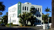 Small Art Deco Apartment Building Stock Footage