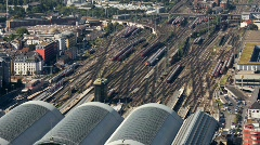 Rail Station - Time lapse Stock Footage