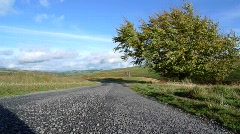 Minor Road at Glenkiln, Dumfries & Galloway, Scotland Stock Footage