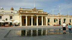 City square of Pjazza San Gorg Valetta Malta - stock footage