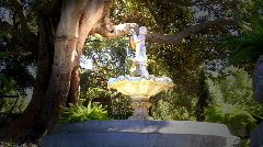 Victorian Era Water Fountain Stock Footage