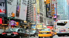 Theatre land, Broadway off Times Square,New York  Stock Footage