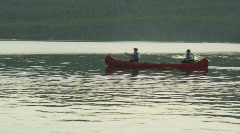 Priest Lake Evening Canoe 31 Stock Footage