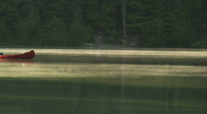 Priest Lake Tranquil Morning Canoe 99 Stock Footage