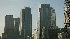 Canary Wharf Sun close - stock footage