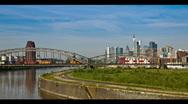 Skyline of Frankfurt Germany - Time lapse Stock Footage