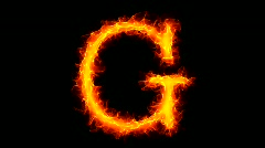 Fire letter G HD Stock Footage