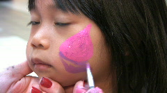 Face Painting Fun Stock Footage