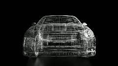 Wireframe Car Stock Footage
