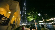 Stock Video Footage of People in Dubai city during fountains show in Dubai, UAE
