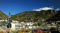 Andorra La Vella Skyline Timelapse Andorra La Vella Panorama, Termoludico Caldea Footage
