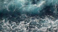 Foam water of sea, view from moving ship Stock Footage