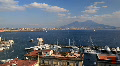 Naples Skyline Yacht Port Harbor Time Lapse Italy Volcano Mount Vesuvius Vesuvio HD Footage