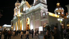 Cathedral of Salta Stock Footage