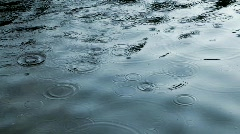 HD raindrops - stock footage