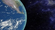 Planet earth at day, universe Stock Footage