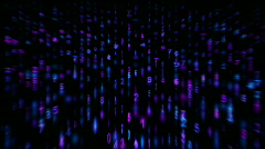 Digital matrix,stock ticker,finance number background.Mathematics,computing Stock Footage