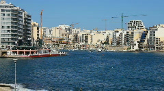 High rise development at St Julian's Bay Malta Stock Footage