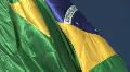 Brazilian Flag waving Footage