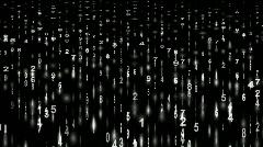 White digital matrix,stock ticker,finance number background.Mathematics,computin Stock Footage