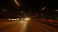 Stock Video Footage of Freeway Drive Night 01 HD