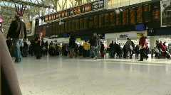 Waterloo Station,London, Timelapse Stock Footage