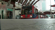 Stock Video Footage of Docklands Light Railway