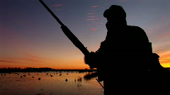 Duck Hunting Hunter Stock Footage