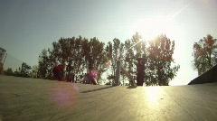 Stock Video Footage of Skate Jump