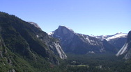 Half Dome Wide Zoom In to Medium Stock Footage