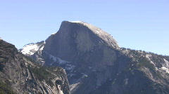 Half Dome Wide Zoom In to Medium Filtered Stock Footage