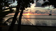 Stock Video Footage of Sunset in Palau
