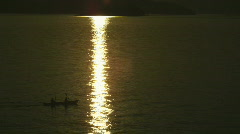 Kayakers on Scenic Lake Pend Oreille at Sunset 69 Stock Footage