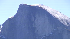 Half Dome CU Zoom Out to Wide Stock Footage