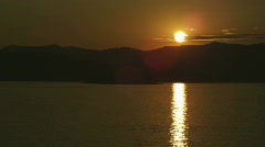 Scenic Lake Pend Oreille at Sunset 88 Stock Footage