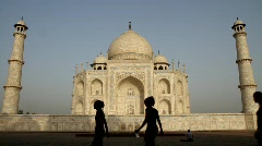 Taj Mahal side  Stock Footage