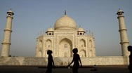 Stock Video Footage of Taj Mahal side