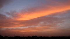 Sunrise over India - stock footage